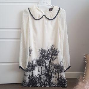 Yumi tree print dress